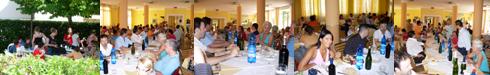 I Consiglieri comunali a pranzo al mare con i ragazzi dell'Aias. Ronchi 11 luglio 2008.