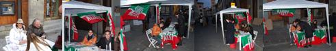 17-18 novembre 2007 - Gazebo di Forza Italia e del Circolo della Libertà di Pistoia al Canto del Balì