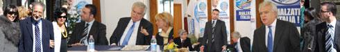 Tutte le foto dell'Onorevole Verdini in visita sabato al Comitato elettorale del Popolo della Libertà